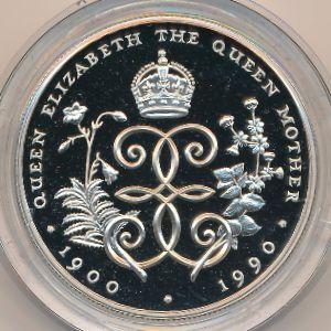 Остров Святой Елены и острова Вознесения, 5 фунтов (1990 г.)