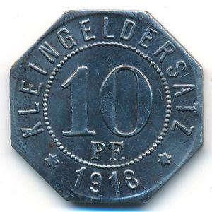 Мергентхайм., 10 пфеннигов (1918 г.)