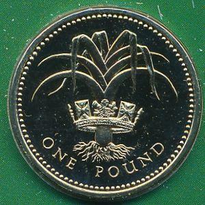 Великобритания, 1 фунт (1985 г.)