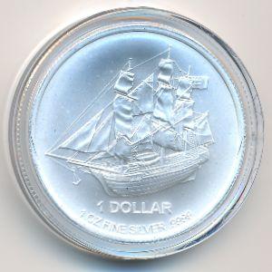 Острова Кука, 1 доллар (2017 г.)