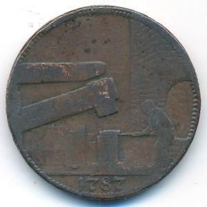 Великобритания, 1/2 пенни (1787 г.)