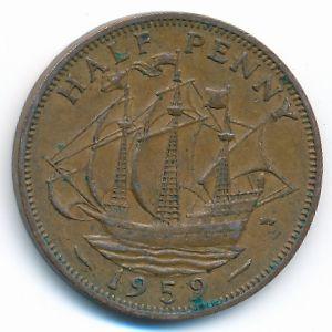 Великобритания, 1/2 пенни (1959 г.)