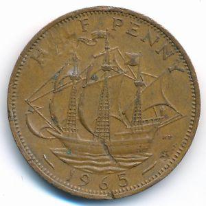 Великобритания, 1/2 пенни (1965 г.)