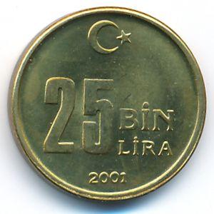 Турция, 25000 лир (2001 г.)