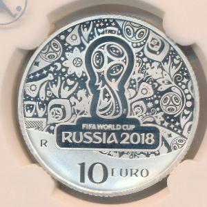 Италия, 10 евро (2018 г.)