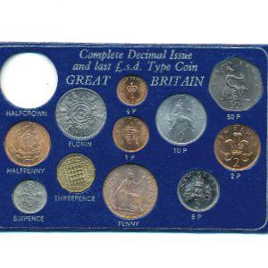 Великобритания, Набор монет