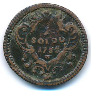 Гориция, 1 сольдо (1753 г.)
