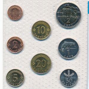 Латвия, Набор монет