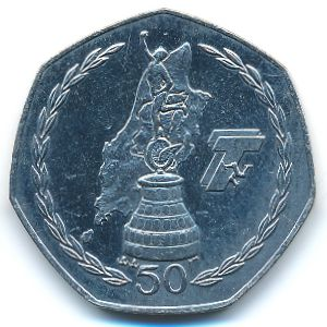 Остров Мэн, 50 пенсов (2004 г.)