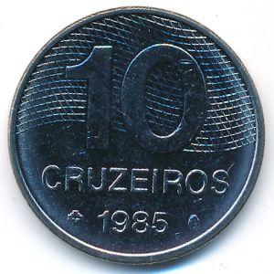 Бразилия, 10 крузейро (1985 г.)