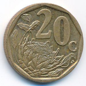 ЮАР, 20 центов (2009 г.)