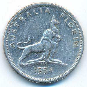 Австралия, 1 флорин (1954 г.)
