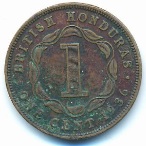 Британский Гондурас, 1 цент (1936 г.)