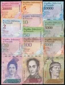 Венесуэла, Набор банкнот