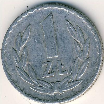 Польская монета 1 злотая 1949 года покупка монет в волгограде