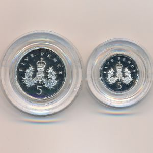 Великобритания, Набор монет (1990 г.)