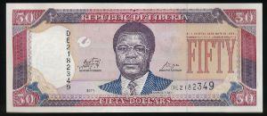 Либерия, 50 долларов (2011 г.)