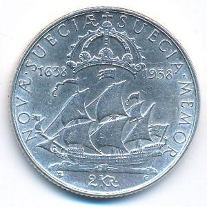 Швеция, 2 кроны (1938 г.)