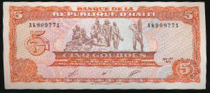Гаити, 5 гурдов (1989 г.)