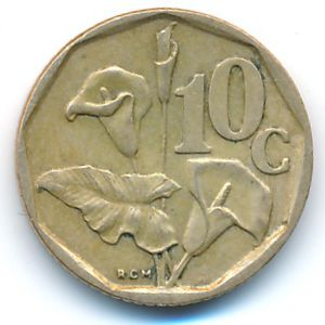 ЮАР, 10 центов (1994 г.)