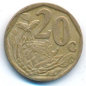 ЮАР, 20 центов (2003 г.)