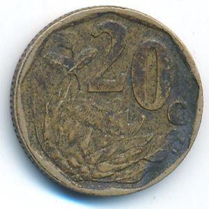 ЮАР, 20 центов (2006 г.)