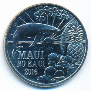 Гавайские острова, 2 доллара (2016 г.)