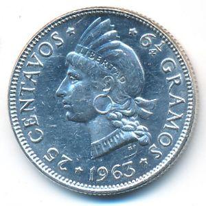 Доминиканская республика, 25 сентаво (1963 г.)