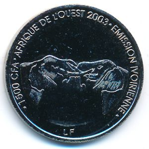 Кот-д`Ивуар, 1500 франков КФА (2003 г.)