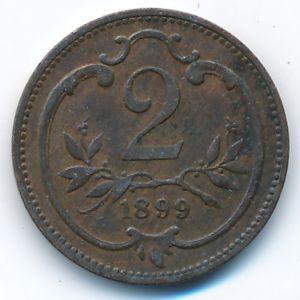 Австрия, 2 геллера (1899 г.)