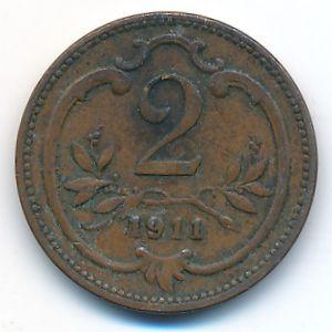 Австрия, 2 геллера (1911 г.)
