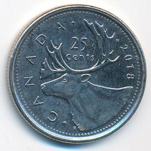 Канада, 25 центов (2018 г.)