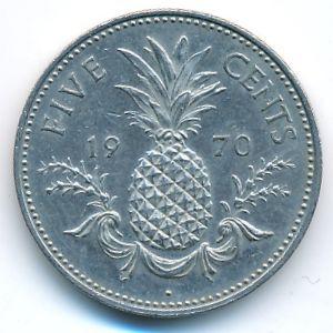 Багамские острова, 5 центов (1970 г.)