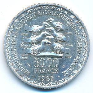 Западная Африка, 5000 франков (1982 г.)