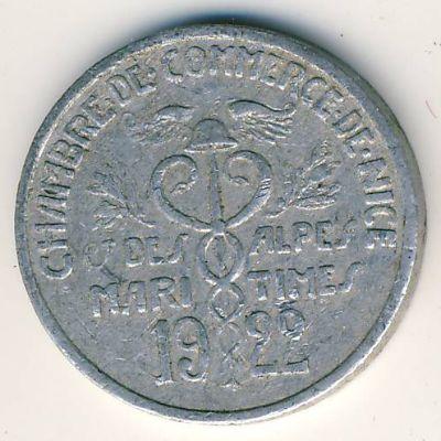 Приморские Альпы., 5 сентим (1922 г.)