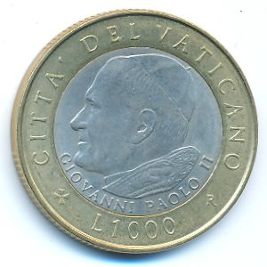 Ватикан, 1000 лир (2001 г.)