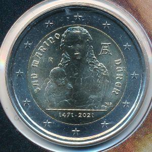 Сан-Марино, 2 евро (2021 г.)