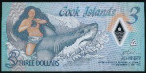 Острова Кука, 3 доллара