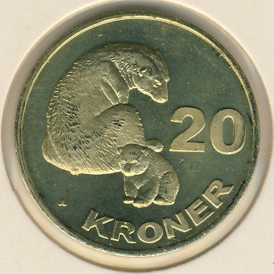 Гренландия 10 крон 2016 года