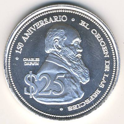 coins catalog galapagos islands 25 dolares x 17 numismatics