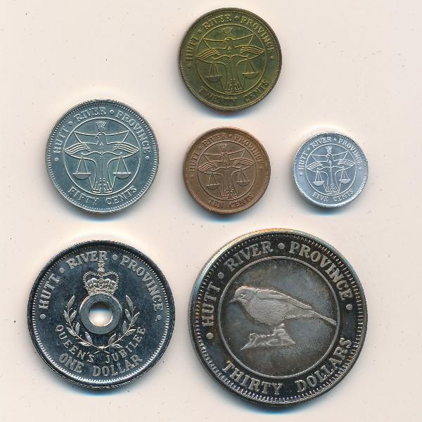 Хатт Ривер, Набор монет (1977 г.)