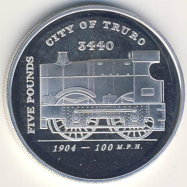 Гернси, 5 фунтов (2004 г.)