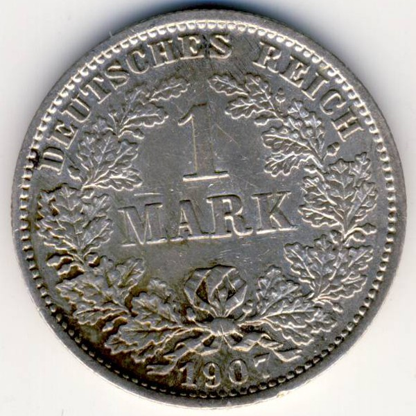 Германия, 1 марка (1907 г.)