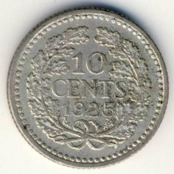 Нидерланды, 10 центов (1925 г.)