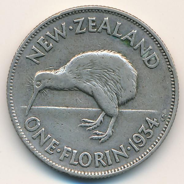 Новая Зеландия, 1 флорин (1934 г.)