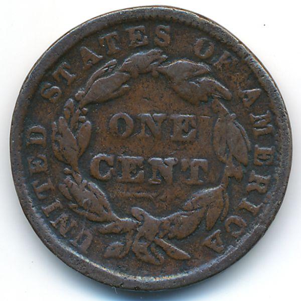 США, 1 цент (1838 г.)