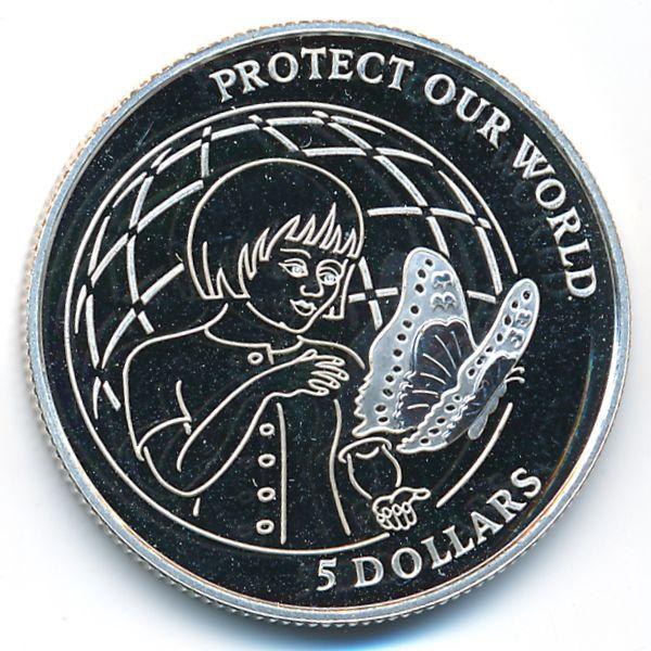 Острова Кука, 5 долларов (1992 г.)