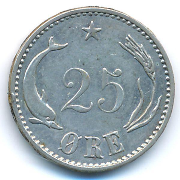 Дания, 25 эре (1905 г.)
