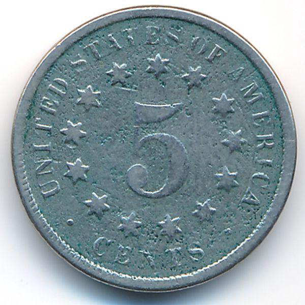 США, 5 центов (1869 г.)