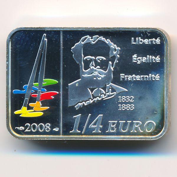 Франция, 1/4 евро (2008 г.)